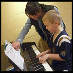 Teacher and Student at the Piano